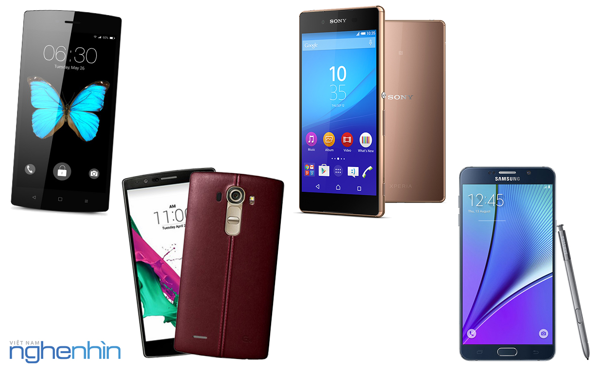 So sánh Galaxy Note 5, Xperia Z3+, LG G4, Bphone - ảnh 1