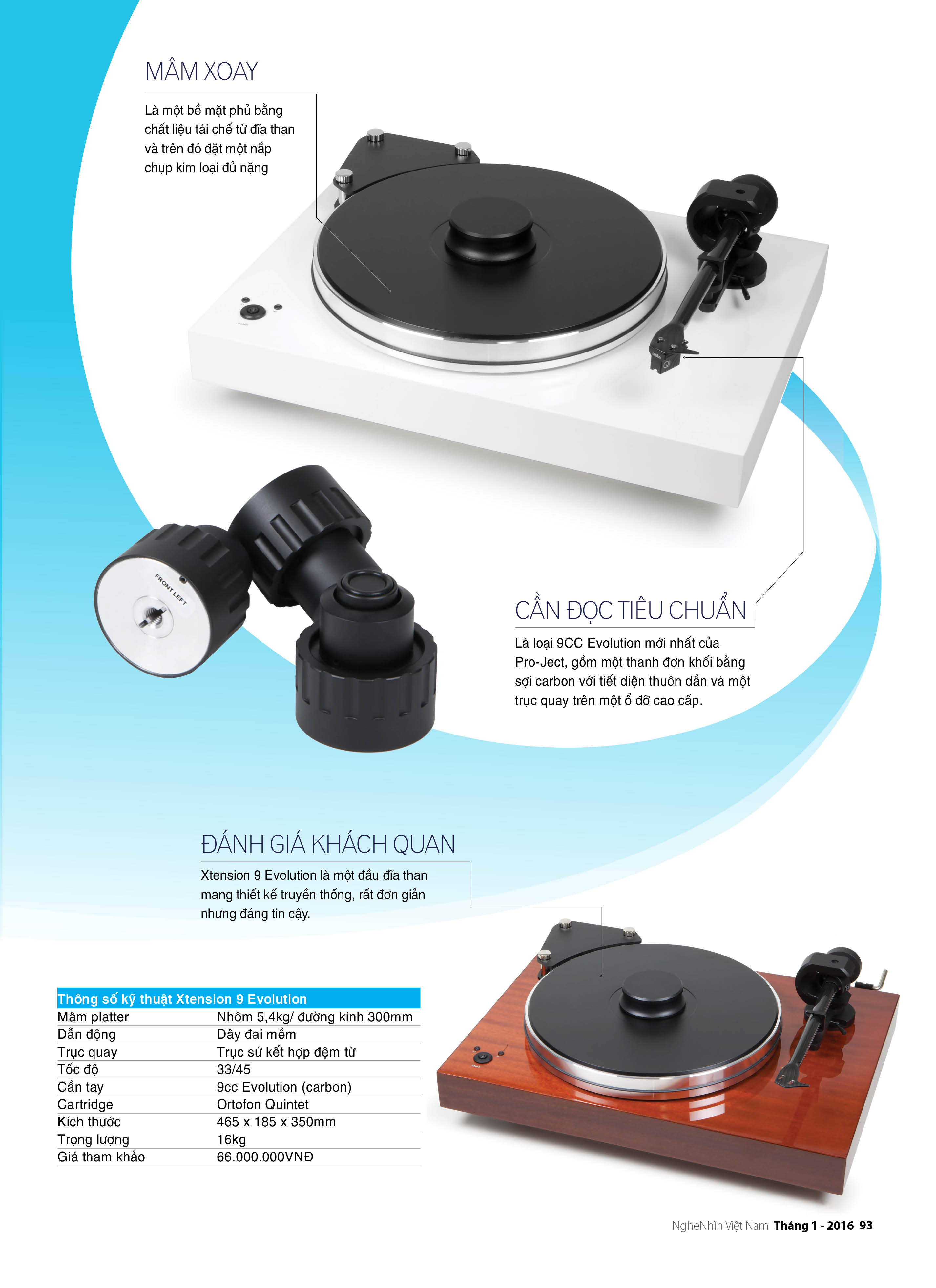 Editor's Choice 2015: Đầu đĩa than Pro-Ject Xtension 9 Evolution ảnh 2